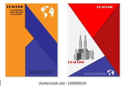 Cover design brochure background