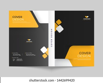 Cover design or brochure template layout for business or corporate sector.
