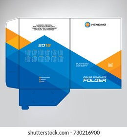 Cover design for folder, brochure, catalogue, layout for placement of photos and text, creative modern design of geometric elements