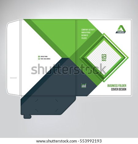 cover design paper folder business concept stock vector royalty