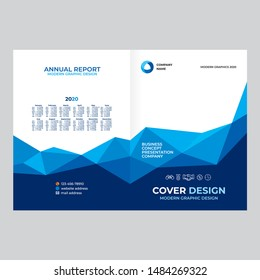 Cover design for product presentation, creative layout of booklet cover, catalog, flyer, trendy design for printed products
