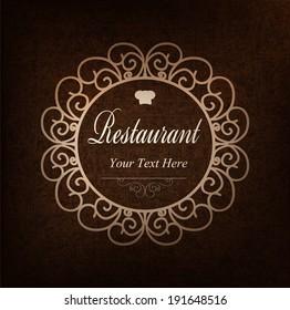 Cover design for the restaurant menu.