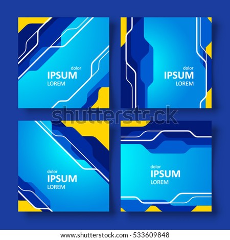 cover design tabs lines blue color stock vector royalty free