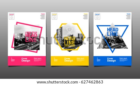 Cover Design Template Abstract Background Vector Illustration