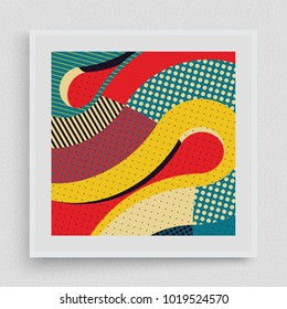 Cover design template. Abstract colorful geometric design. Vector illustration. Can be used for advertising, marketing, presentation.