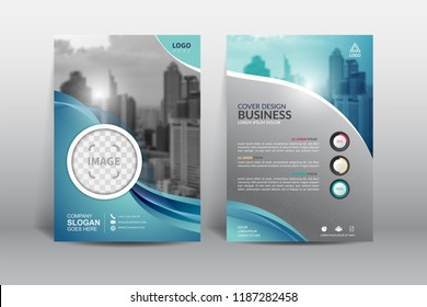 Cover Design template, annual report cover, flyer, presentation, brochure. Front page design layout template with bleed in A4 size. Multi colors with abstract background templates.