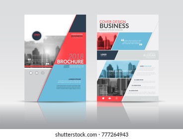 annual report cover flyer presentation brochure stock vector