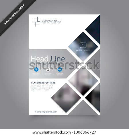 cover design template annual report abstract のベクター画像素材