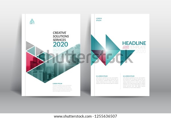 Cover Design Template Annual Report Cover Stock Image