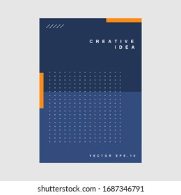 Cover design template with geometric elements. Good for poster event, card, invitation, flyer, cover, banner, placard, brochure, magazine, etc. - Shutterstock ID 1687346791