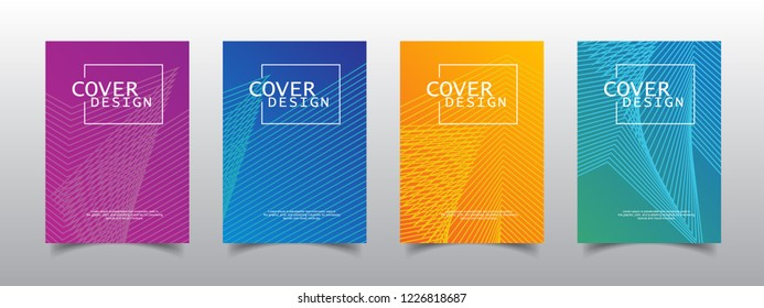Cover design template, Modern Annual Report , Book Cover, Business Flyer, Vector Illustration