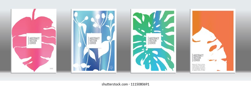 Cover design template. Notebook exotic layout. Backdrop for corporate annual report, poster, magazine first page. Minimal leaflet, business flyer. Promotion concept card. A4 flat abstract art