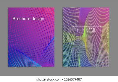 Cover Design Template Set Abstract Lines Stock Vector Royalty Free
