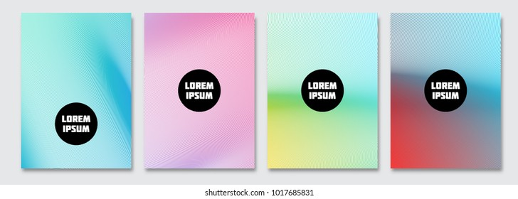 Cover design template. Vector minimal abstract background with smooth wavy lines. Flyer, presentation, brochure design. A4 size.