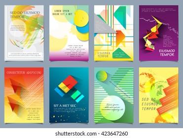 Cover Design - Vector Illustration, Graphic Design. Modern Cover Circle Design