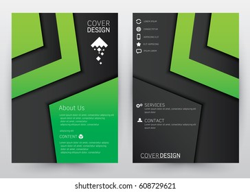Cover Design Vector template set  Brochure, Annual Report, Magazine, Poster, Website, etc. A4 size