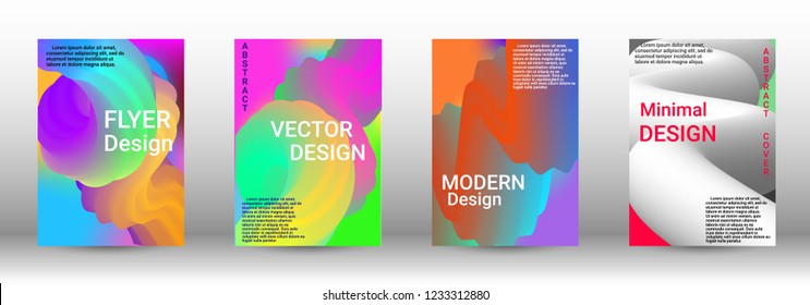 Cover design. Wave Flow Shape. Abstract 3d Background.   Modern Vector Illustration.