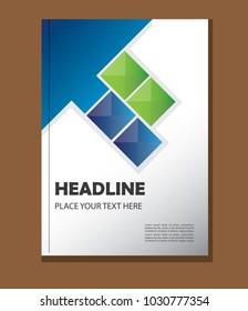 annual report design vector template a 4 stock vector royalty free