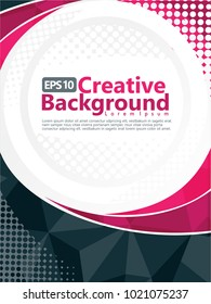 cover with geometric and polygonal pattern. abstract vector background template for brochure, flyer