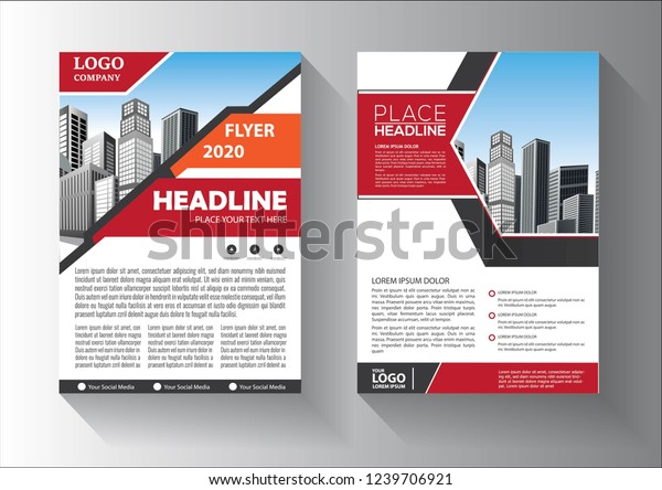 Cover Layout Brochure Magazine Catalog Flyer Stock Vector
