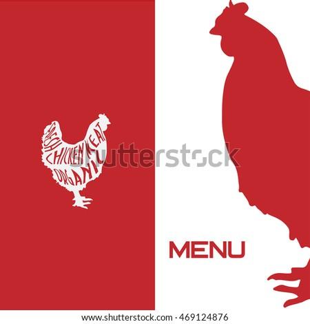 cover menu template chicken hen vector stock vector royalty free