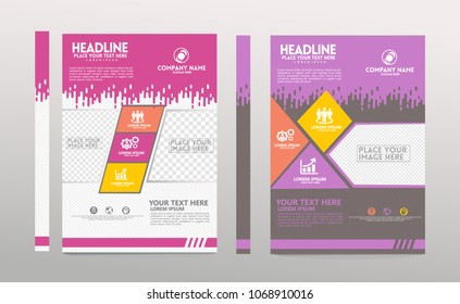 cover of a modern business brochure layout or flayer template, magazine,, cover design for annual report, can use for business or your event.