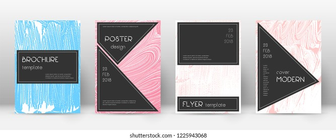 Cover page design template. Black brochure layout. Beautiful trendy abstract cover page. Pink and blue grunge texture background. Dazzling poster.