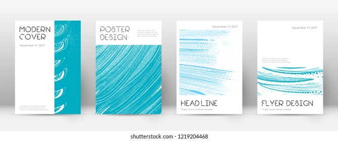 Cover page design template. Minimal brochure layout. Captivating trendy abstract cover page. Pink and blue grunge texture background. Splendid poster.