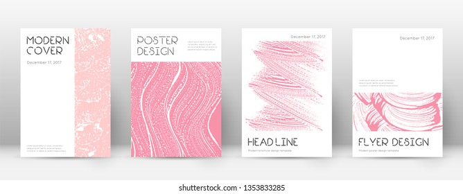 Cover page design template. Minimal brochure layout. Captivating trendy abstract cover page. Pink and blue grunge texture background. Remarkable poster.