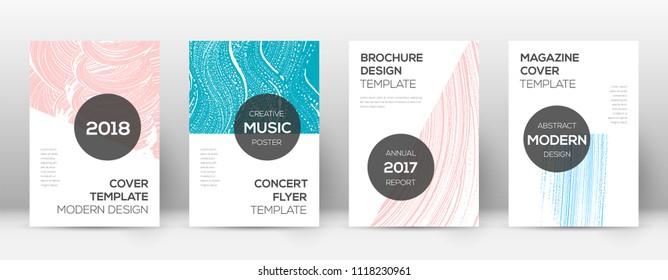 Cover page design template. Modern brochure layout. Creative trendy abstract cover page. Pink and blue grunge texture background. Curious poster.