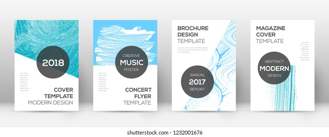 Cover page design template. Modern brochure layout. Cool trendy abstract cover page. Pink and blue grunge texture background. Actual poster.