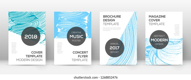 Cover page design template. Modern brochure layout. Cool trendy abstract cover page. Pink and blue grunge texture background. Decent poster.