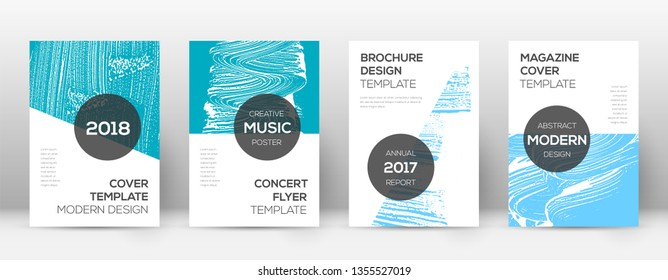 Cover page design template. Modern brochure layout. Cool trendy abstract cover page. Pink and blue grunge texture background. Captivating poster.