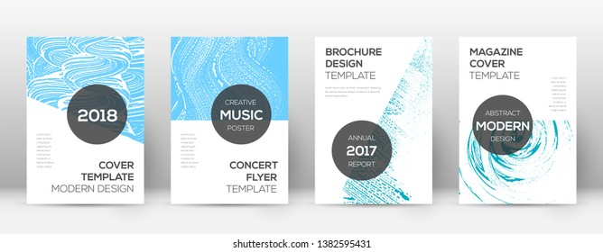 Cover page design template. Modern brochure layout. Cool trendy abstract cover page. Pink and blue grunge texture background. Authentic poster.