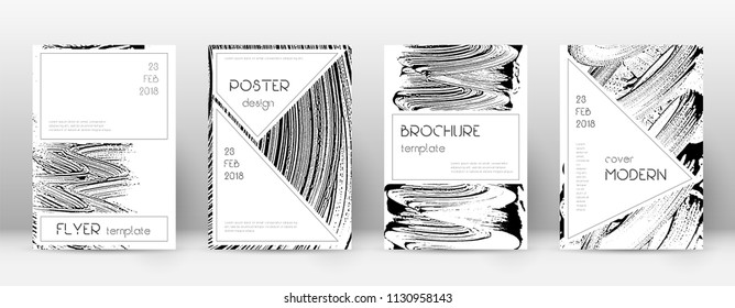 Cover page design template. Stylish brochure layout. Charming trendy abstract cover page. Soap invert grunge texture background. Precious poster.