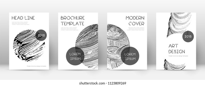 Cover page design template. Trendy brochure layout. Classic trendy abstract cover page. Soap invert grunge texture background. Tempting poster.