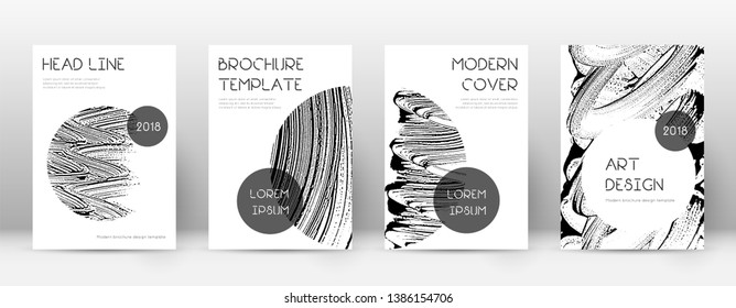 Cover page design template. Trendy brochure layout. Classy trendy abstract cover page. Soap invert grunge texture background. Admirable poster.