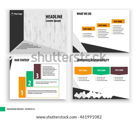 cover page layout vector illustration background stock vector