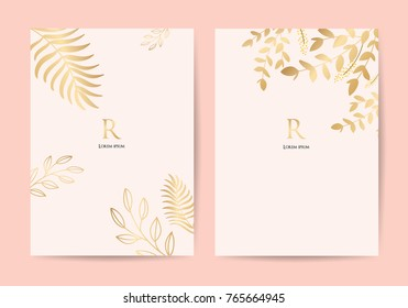 cover page templated rose and gold wallpaper