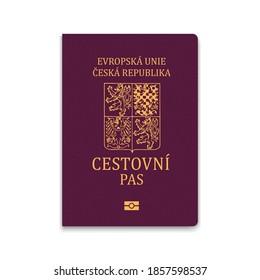 Cover Passport of Czech Republic. Vector illustration