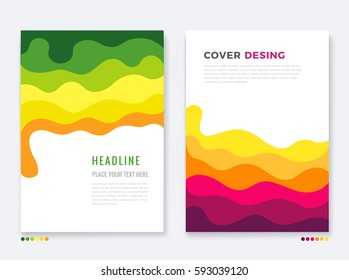 Cover Template. Colorful pattern design background. Vector illustration.