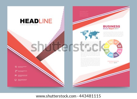Cover Template Design Business Annual Report Stock Vector Royalty