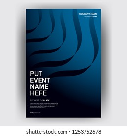 cover template design with modern style magazine free vector