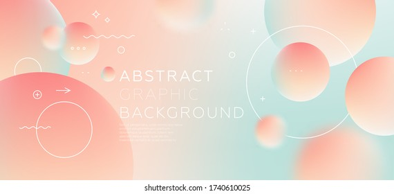 Cover template with dynamic bauhaus, memphis and hipster liquid fluid graphic geometric shapes for landing page, placards, brochures, posters, covers and banners. Vector illustration.
