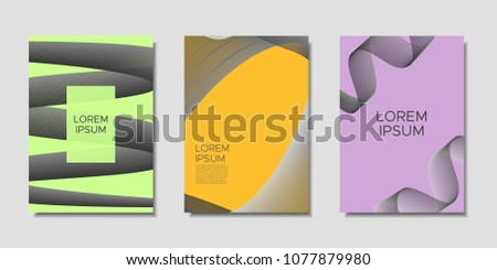 cover templates set wavy stripes text stock vector royalty free