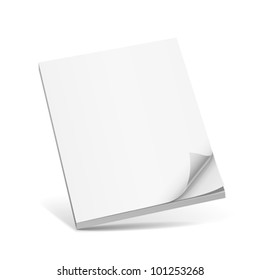 Cover white book with blank. vector illustration