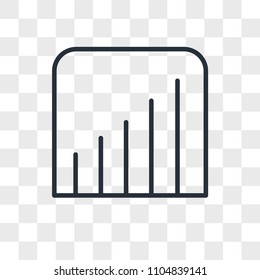 Coverage level vector icon isolated on transparent background, Coverage level logo concept