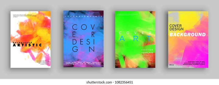Covers design. Colorful halftone gradients. Background Painting. Vector template brochures, flyers, presentations, leaflet, magazine a4 size