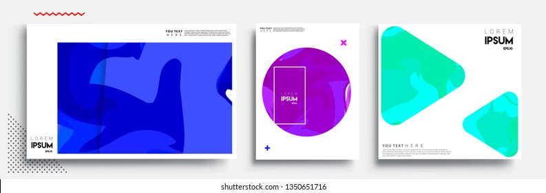 Covers design sets, cool gradient shapes composition, shapes, abstract lines and style graphic geometric elements. Applicable for placards, brochures, posters, covers and banner