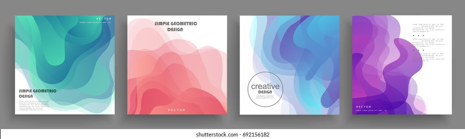 Covers design. Shapes multiply on white backgrounds. Eps10